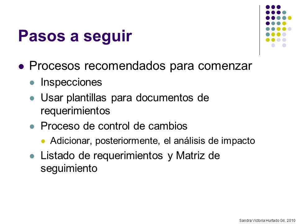 Pasos a seguir Procesos recomendados para comenzar Inspecciones