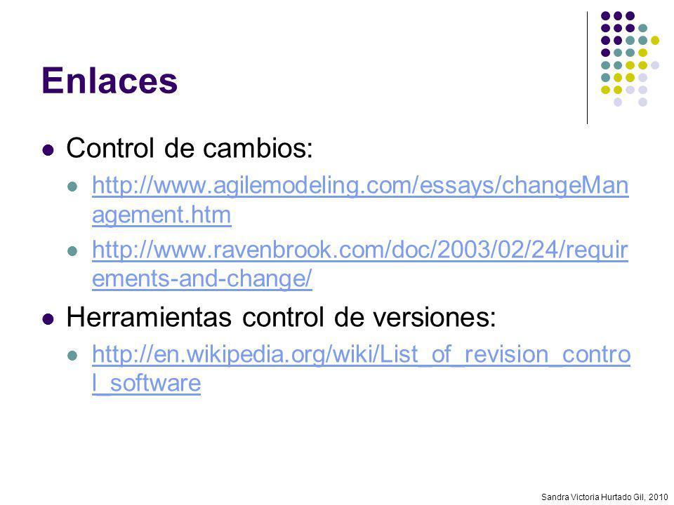 Enlaces Control de cambios: Herramientas control de versiones: