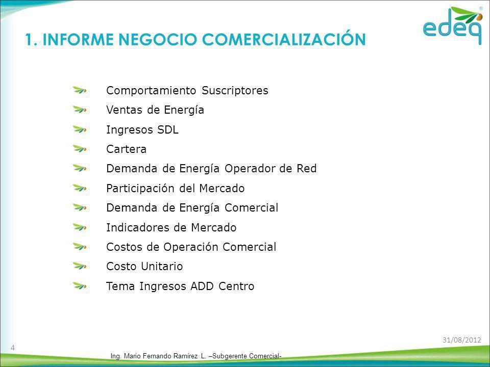 1. INFORME NEGOCIO COMERCIALIZACIÓN