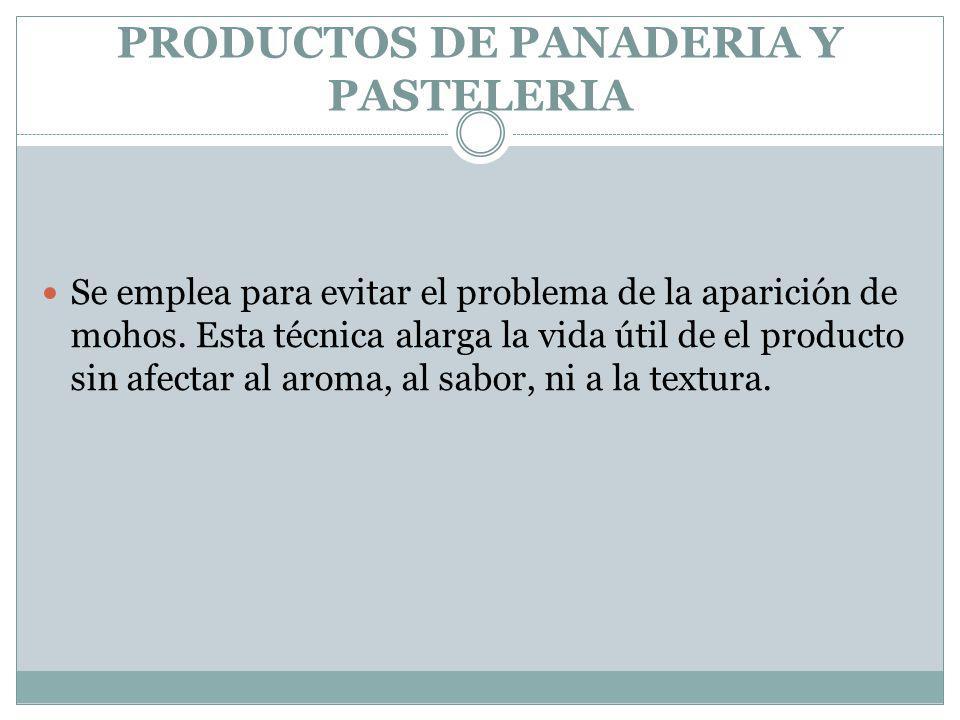 PRODUCTOS DE PANADERIA Y PASTELERIA