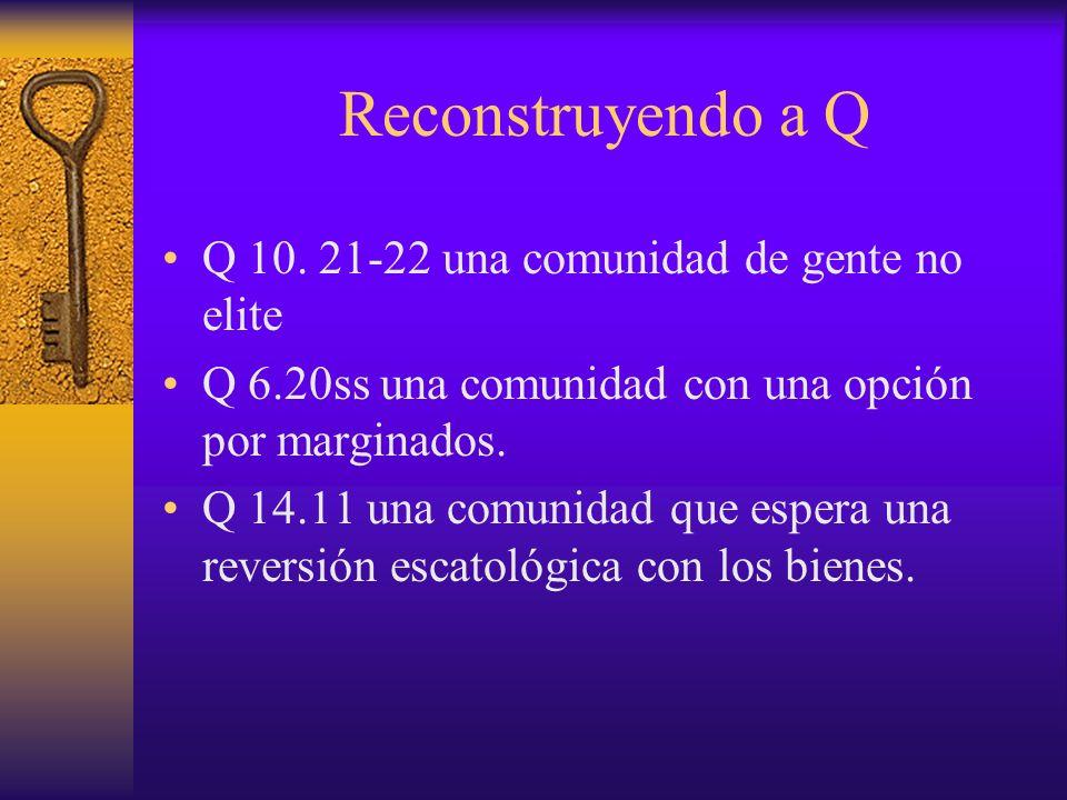 Reconstruyendo a Q Q 10. 21-22 una comunidad de gente no elite