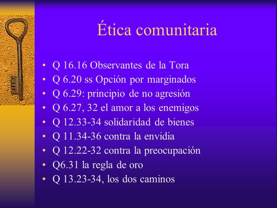 Ética comunitaria Q 16.16 Observantes de la Tora