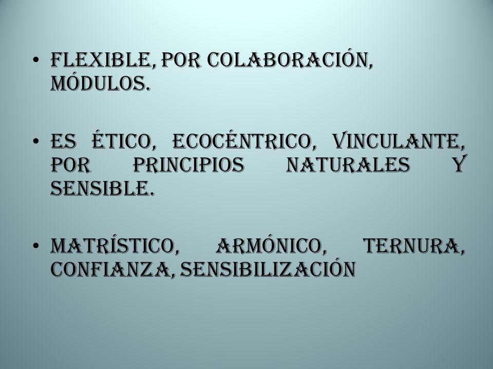 Flexible, por colaboración, módulos.