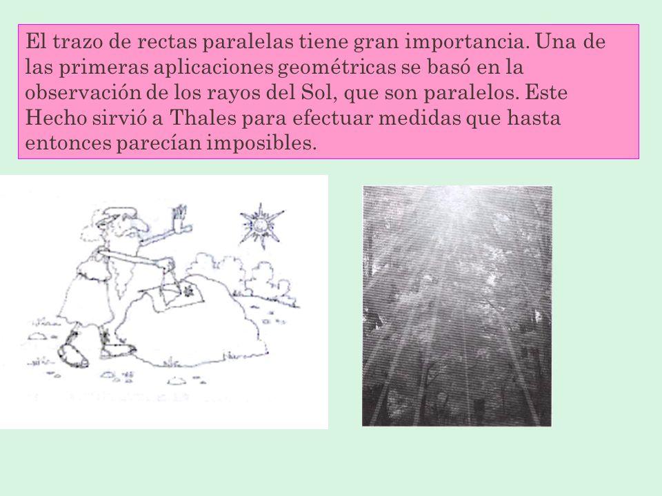 El trazo de rectas paralelas tiene gran importancia
