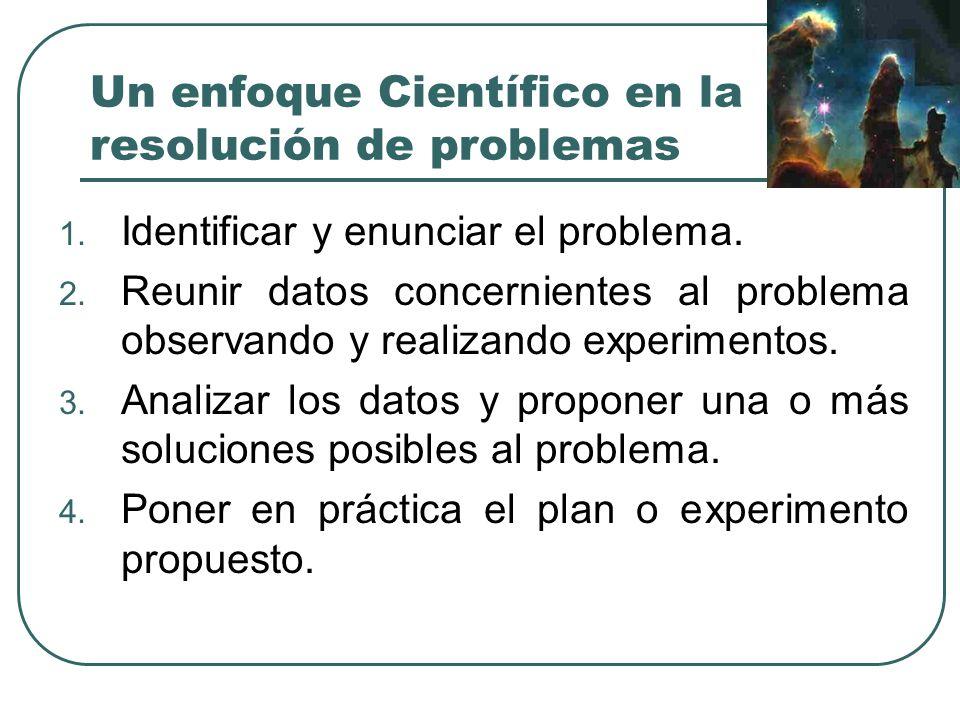 Un enfoque Científico en la resolución de problemas