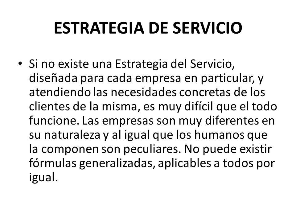 ESTRATEGIA DE SERVICIO
