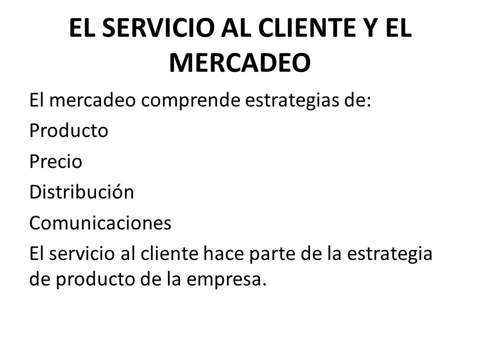 EL SERVICIO AL CLIENTE Y EL MERCADEO