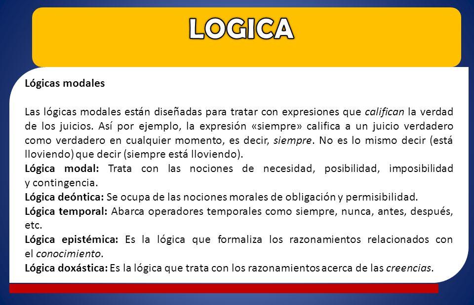 LOGICA Lógicas modales