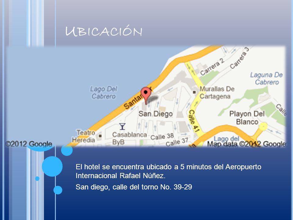 Ubicación El hotel se encuentra ubicado a 5 minutos del Aeropuerto Internacional Rafael Núñez.