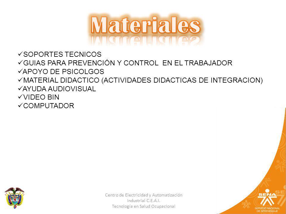Materiales SOPORTES TECNICOS