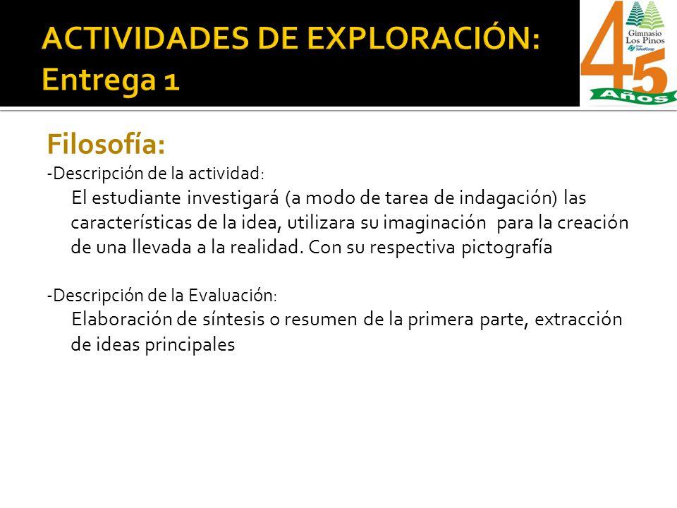 ACTIVIDADES DE EXPLORACIÓN: Entrega 1
