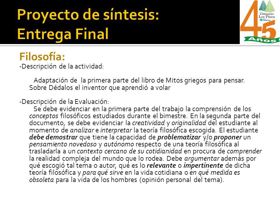 Proyecto de síntesis: Entrega Final