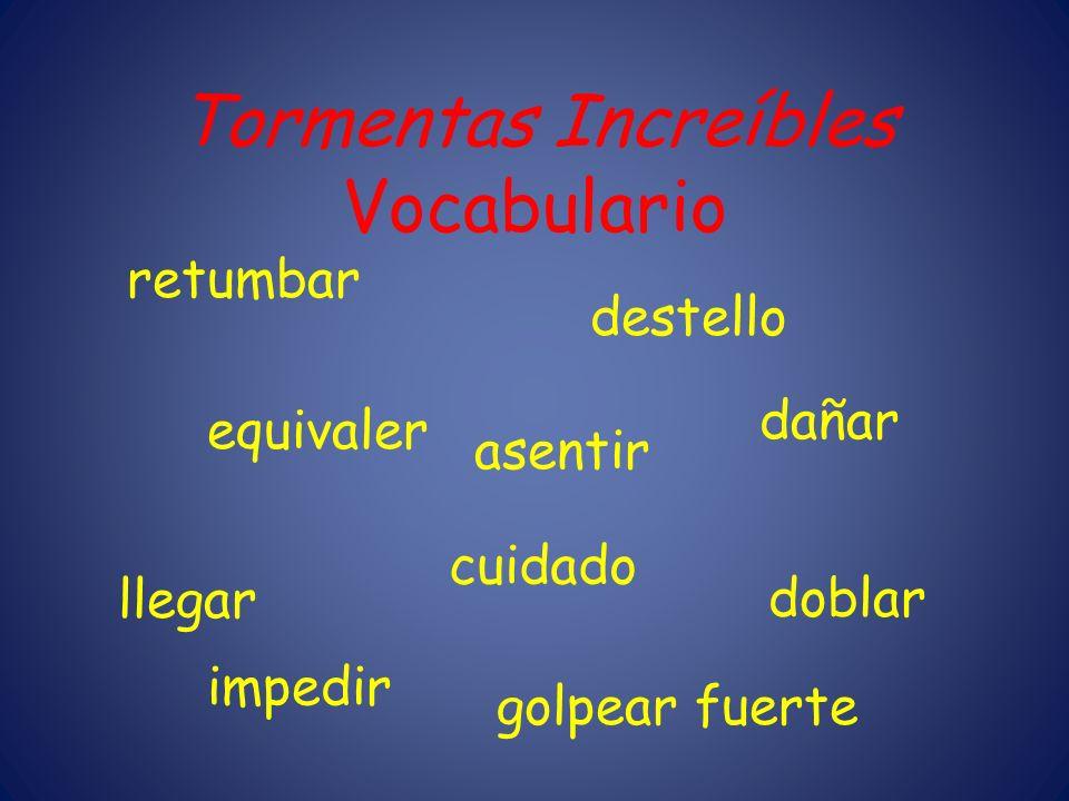 Tormentas Increíbles Vocabulario