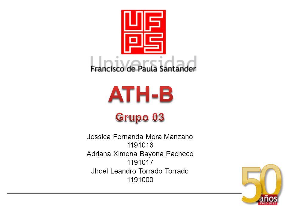 ATH-B Grupo 03 Jessica Fernanda Mora Manzano 1191016