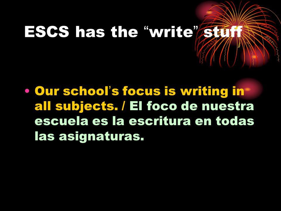 ESCS has the write stuff
