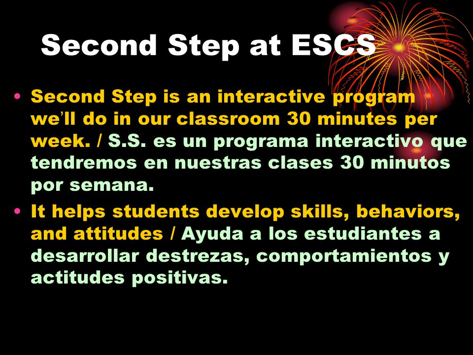 Second Step at ESCS