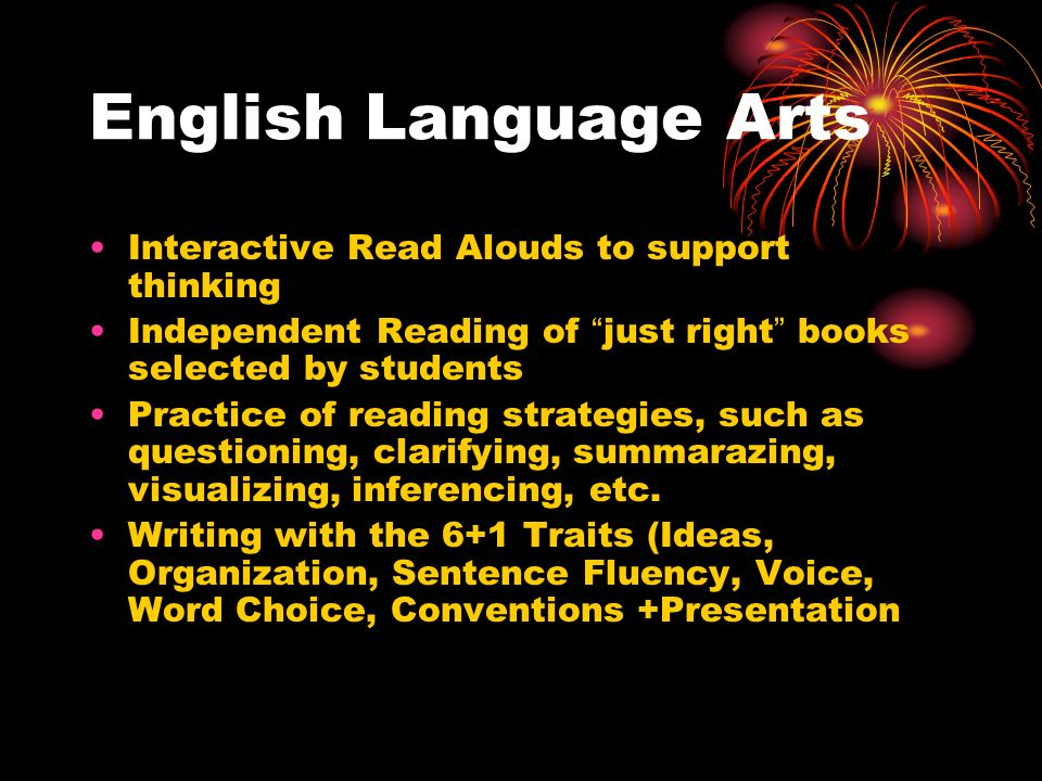 English Language Arts Interactive Read Alouds to support thinking