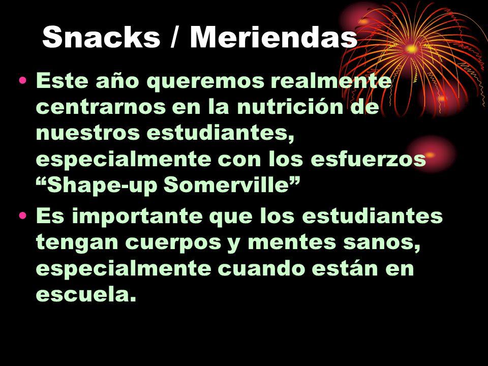 Snacks / Meriendas