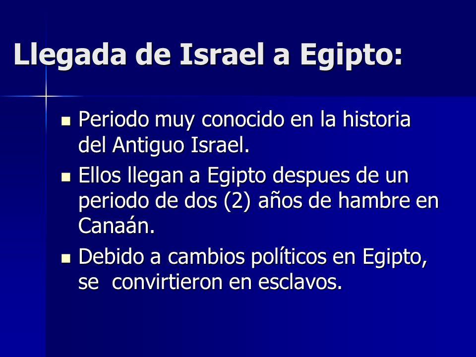 Llegada de Israel a Egipto: