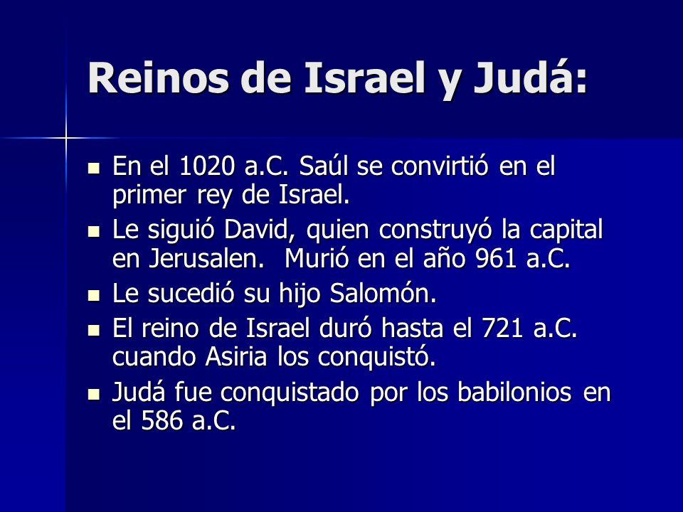 Reinos de Israel y Judá: