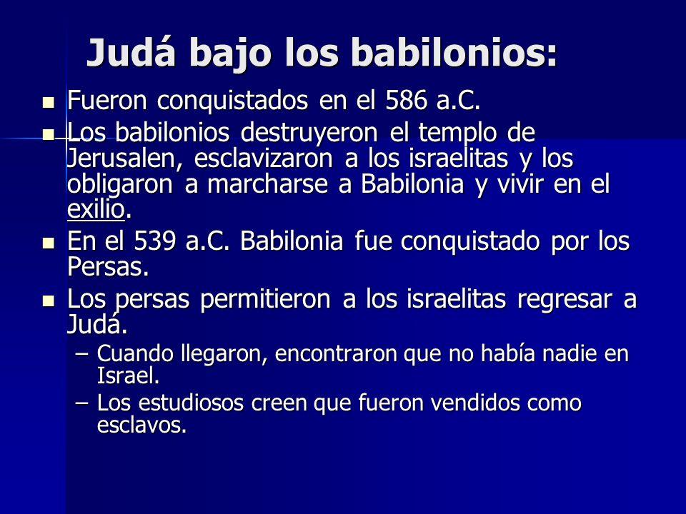 Judá bajo los babilonios:
