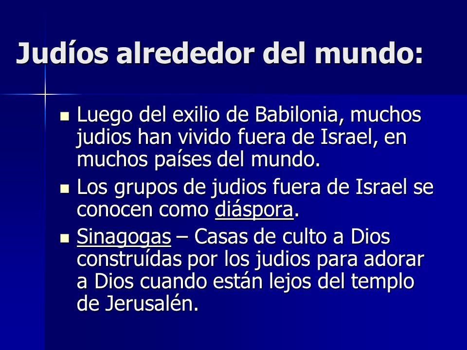 Judíos alrededor del mundo: