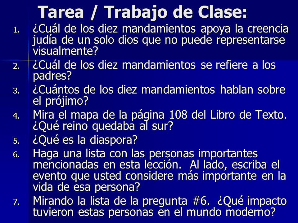 Tarea / Trabajo de Clase: