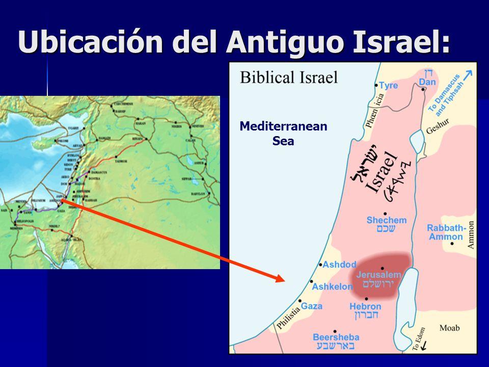 Ubicación del Antiguo Israel: