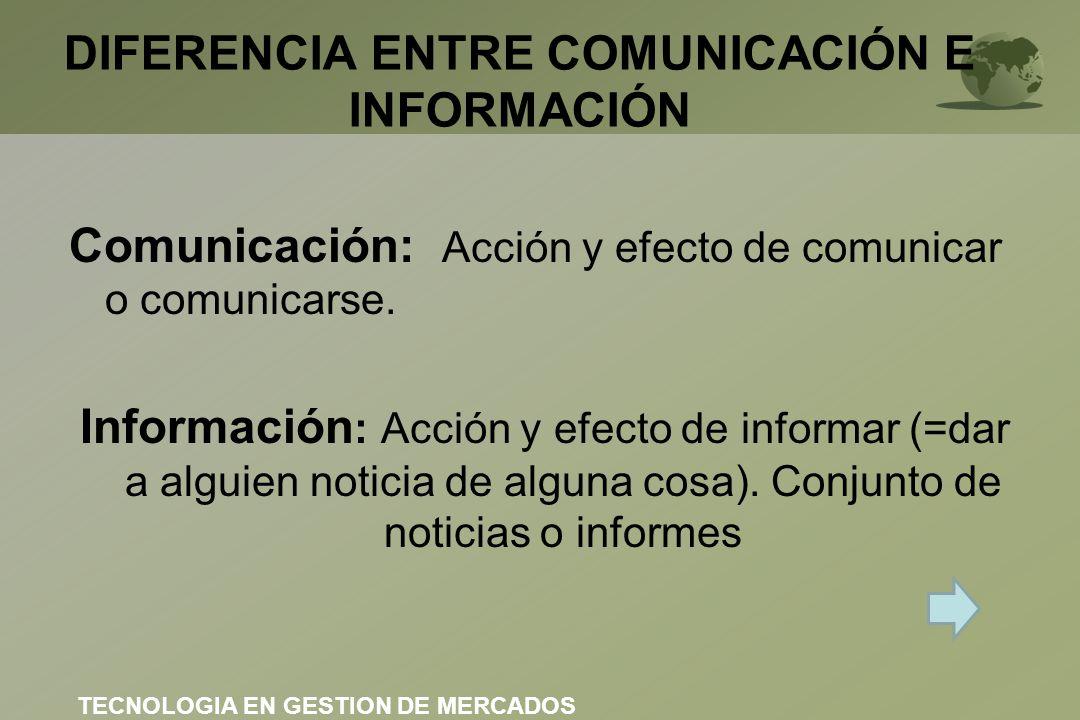 DIFERENCIA ENTRE COMUNICACIÓN E INFORMACIÓN