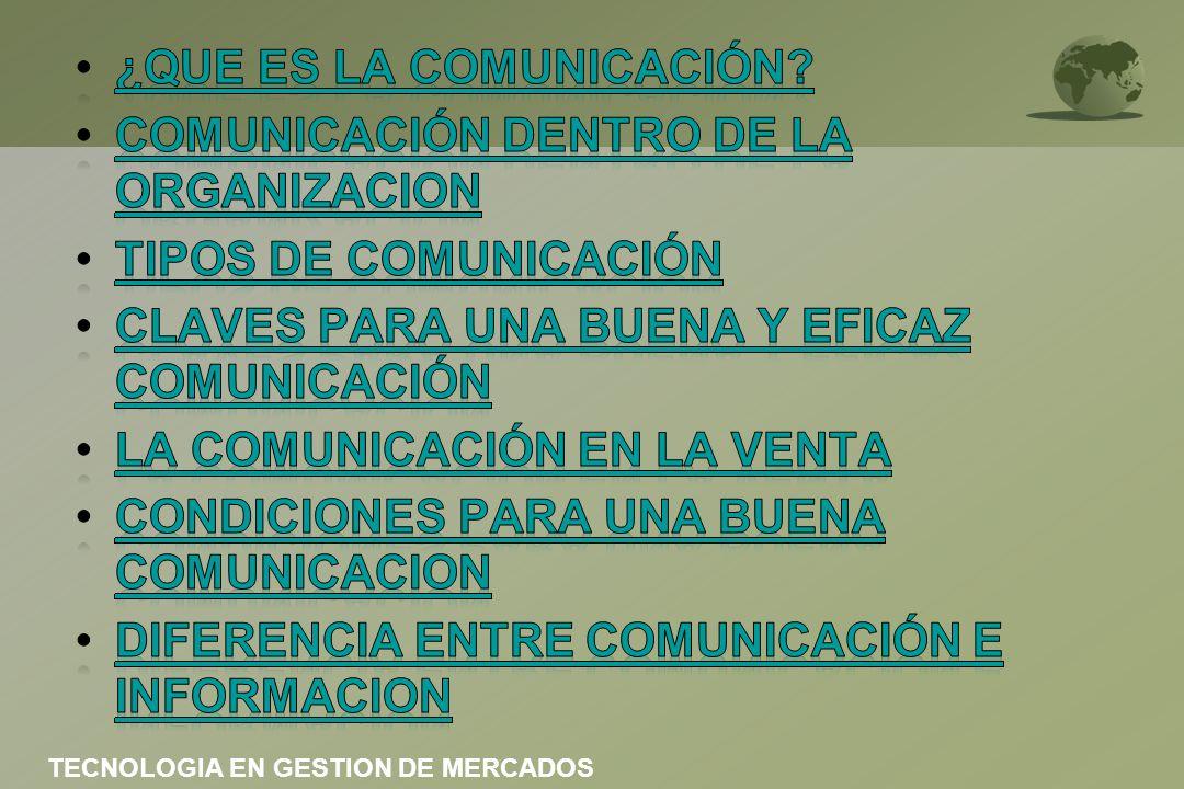 ¿QUE ES LA COMUNICACIÓN COMUNICACIÓN DENTRO DE LA ORGANIZACION