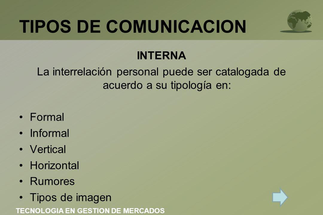 TIPOS DE COMUNICACION INTERNA