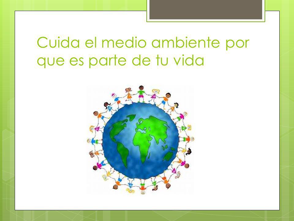 Cuida el medio ambiente por que es parte de tu vida
