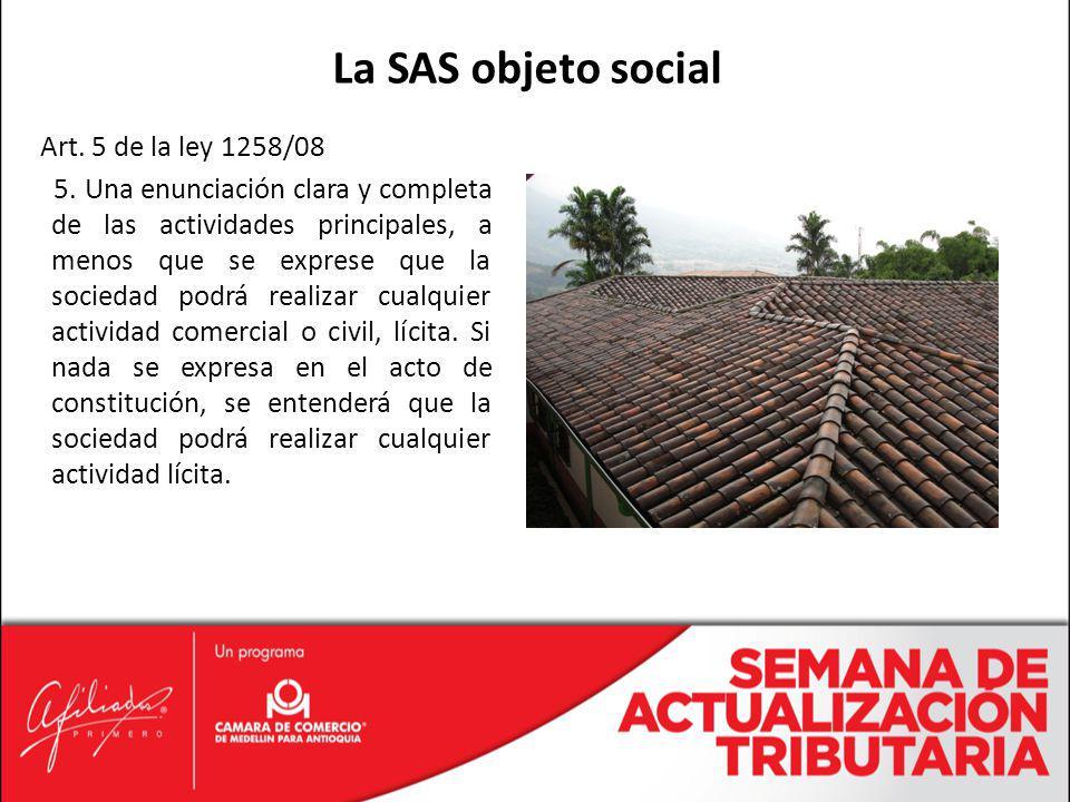 La SAS objeto social