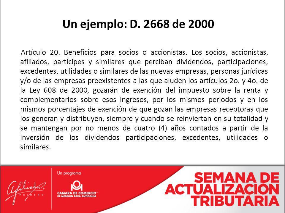 Un ejemplo: D. 2668 de 2000