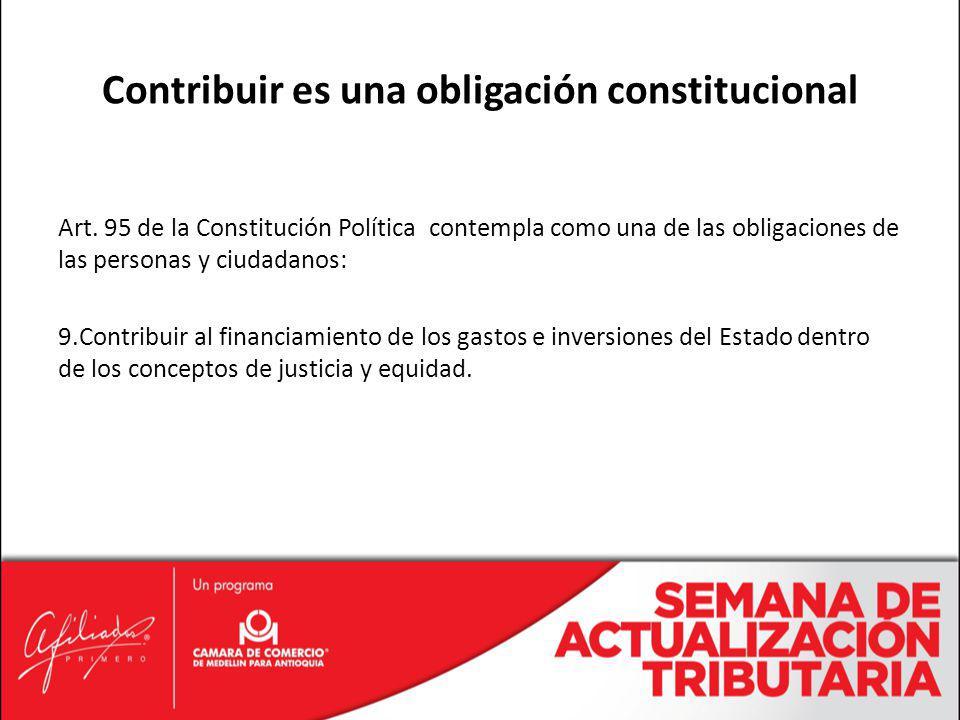 Contribuir es una obligación constitucional
