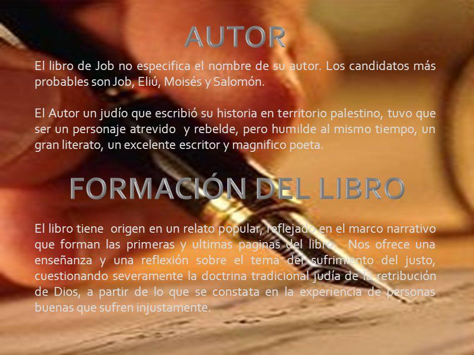 AUTOR FORMACIÓN DEL LIBRO