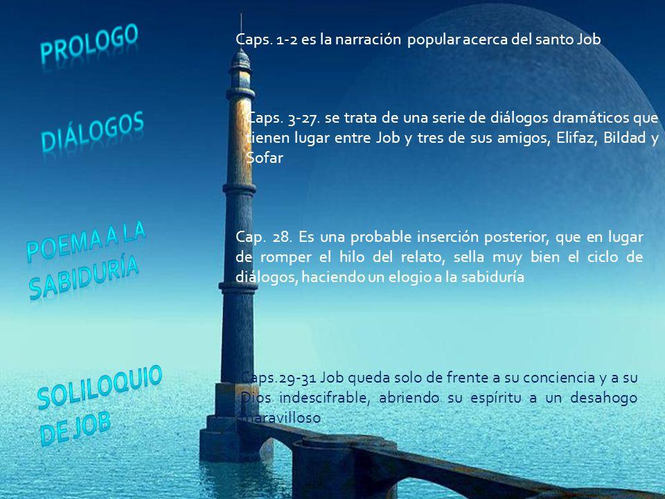prologo diálogos Poema a la sabiduría Soliloquio de Job