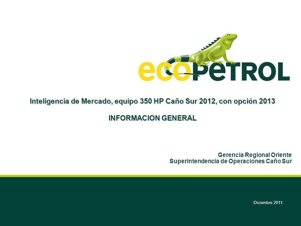 Gerencia Regional Oriente Superintendencia de Operaciones Caño Sur
