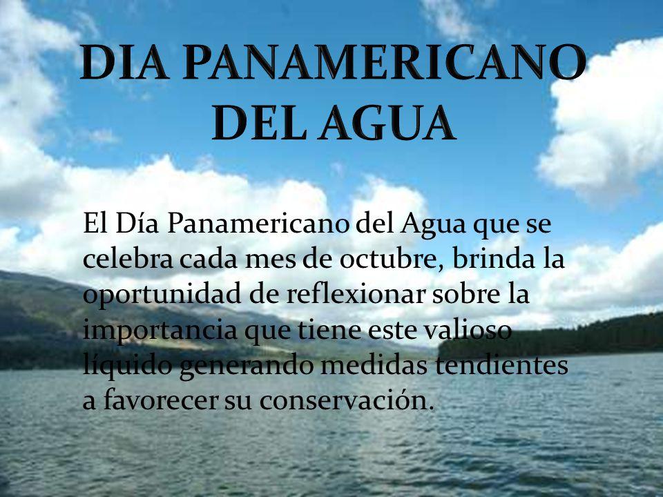 DIA PANAMERICANO DEL AGUA