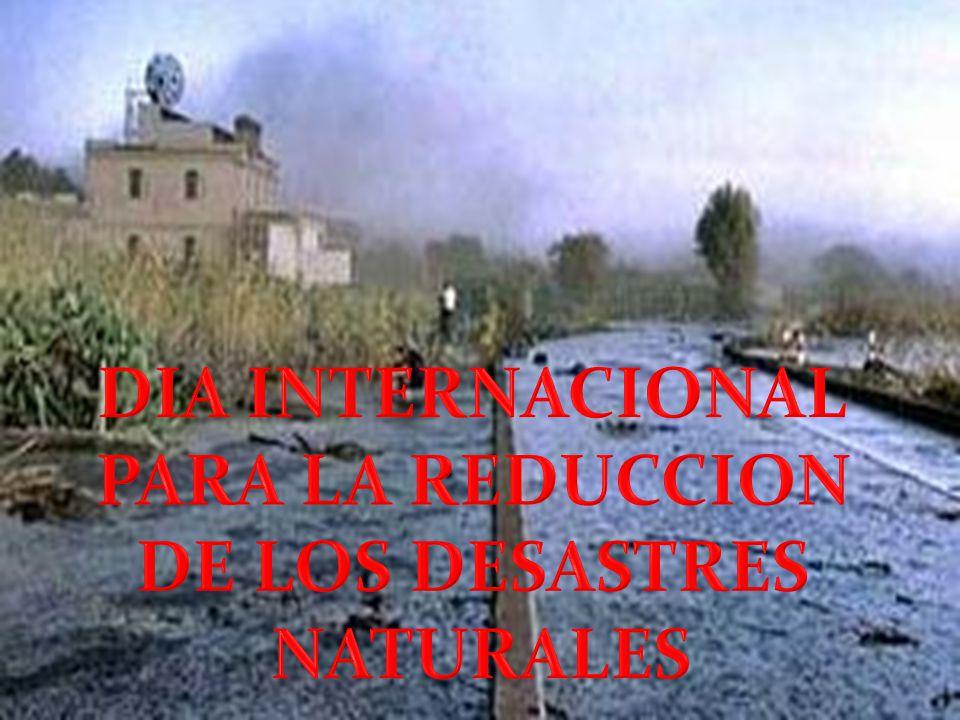 DIA INTERNACIONAL PARA LA REDUCCION DE LOS DESASTRES NATURALES