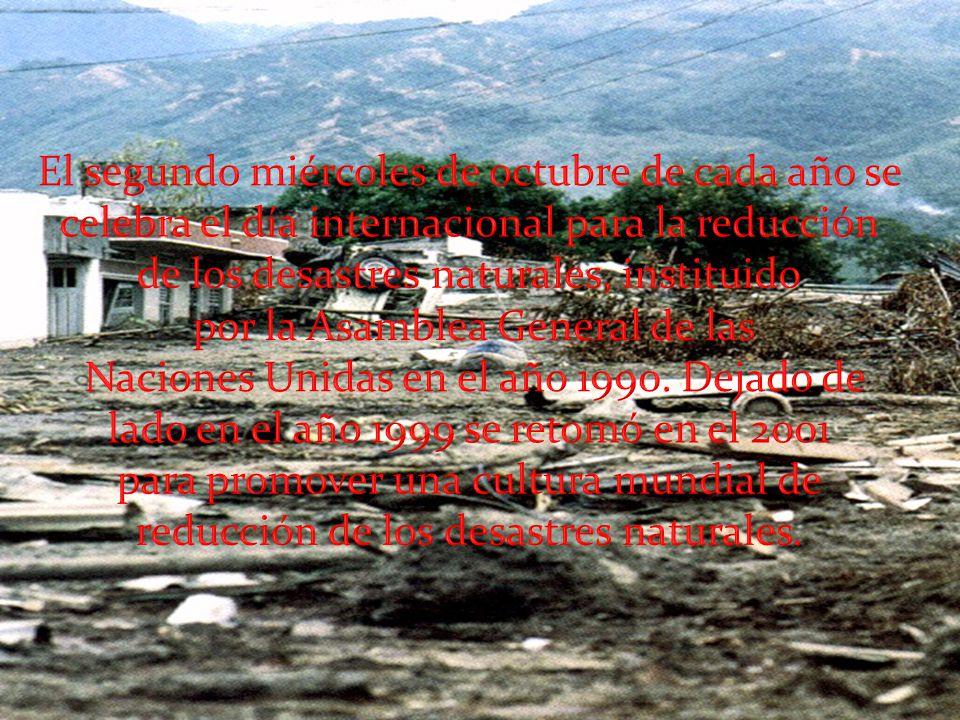 de los desastres naturales, instituido por la Asamblea General de las