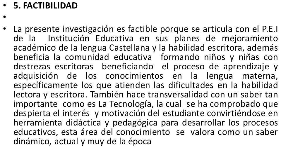 5. FACTIBILIDAD