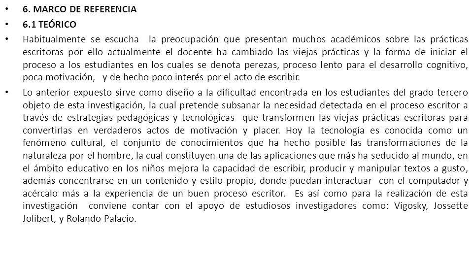 6. MARCO DE REFERENCIA 6.1 TEÓRICO.