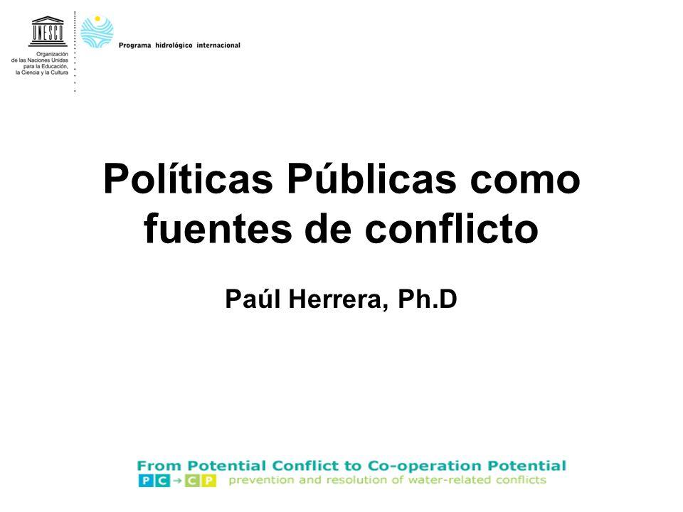 Políticas Públicas como fuentes de conflicto