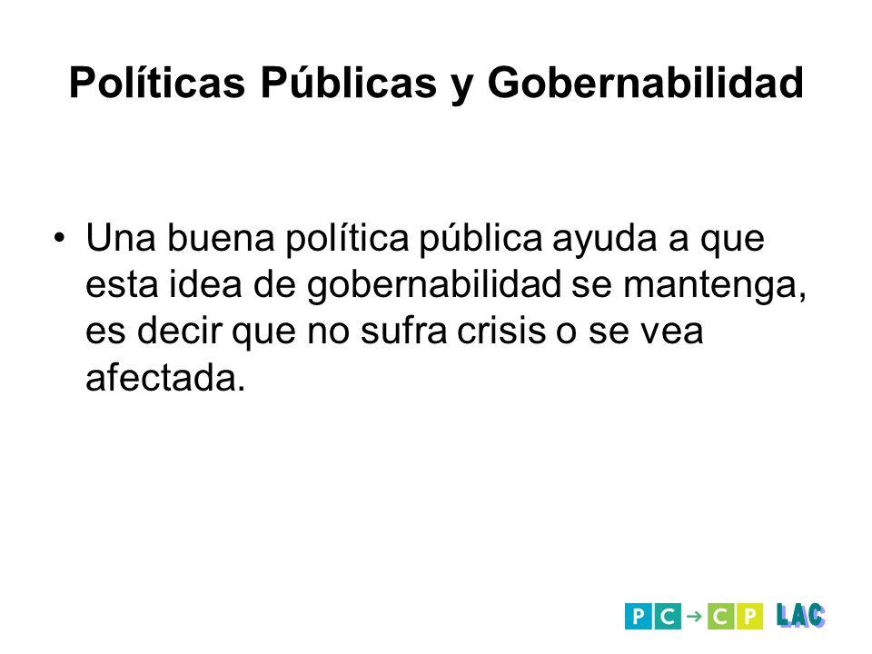 Políticas Públicas y Gobernabilidad