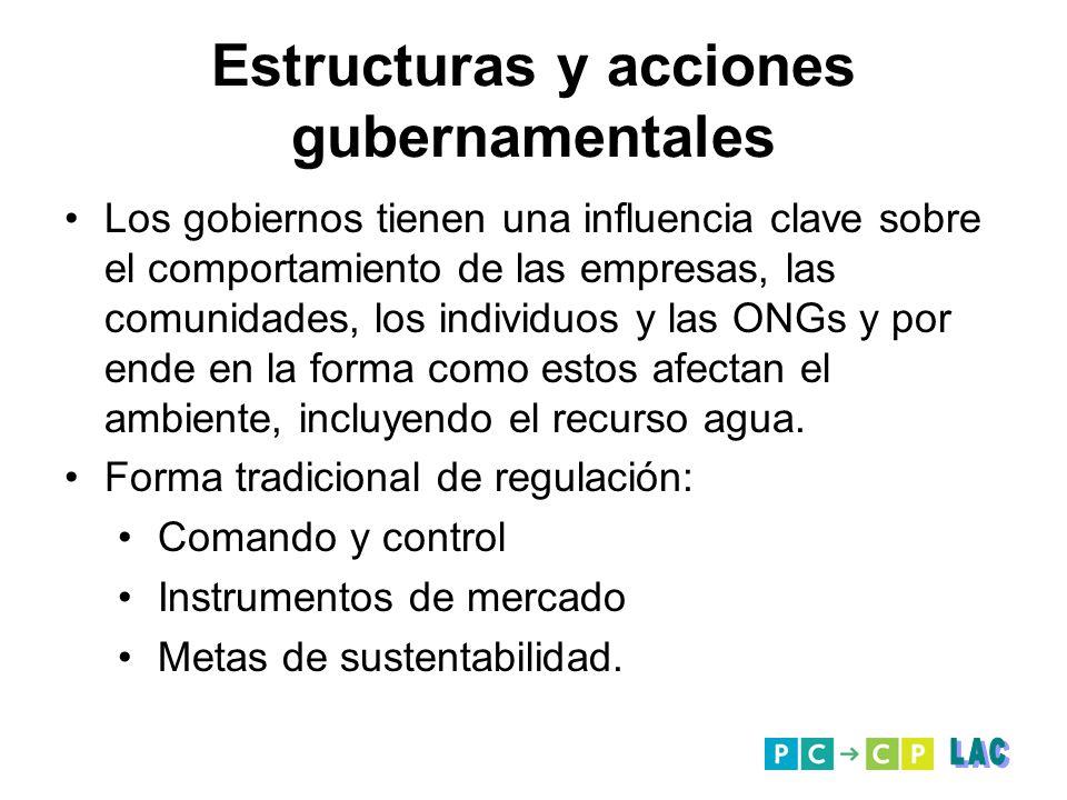 Estructuras y acciones gubernamentales