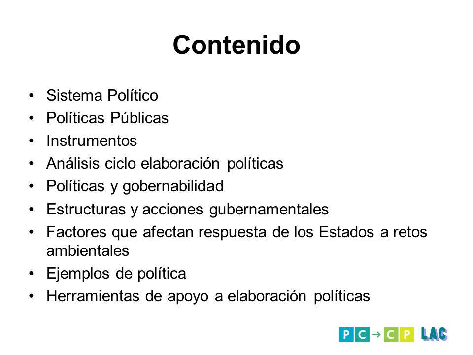 Contenido LAC Sistema Político Políticas Públicas Instrumentos