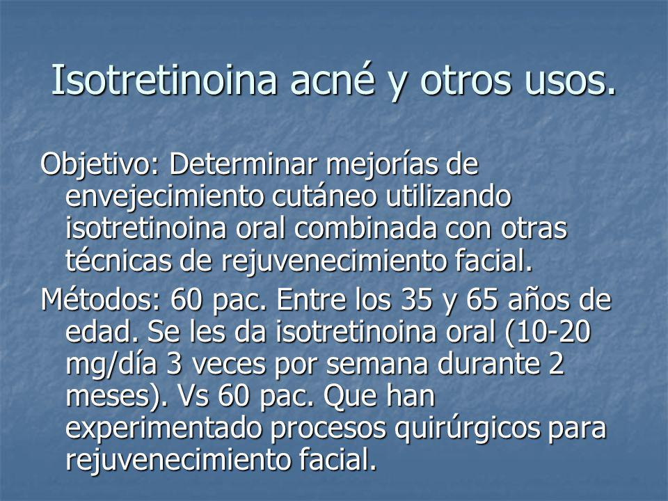 Isotretinoina acné y otros usos.