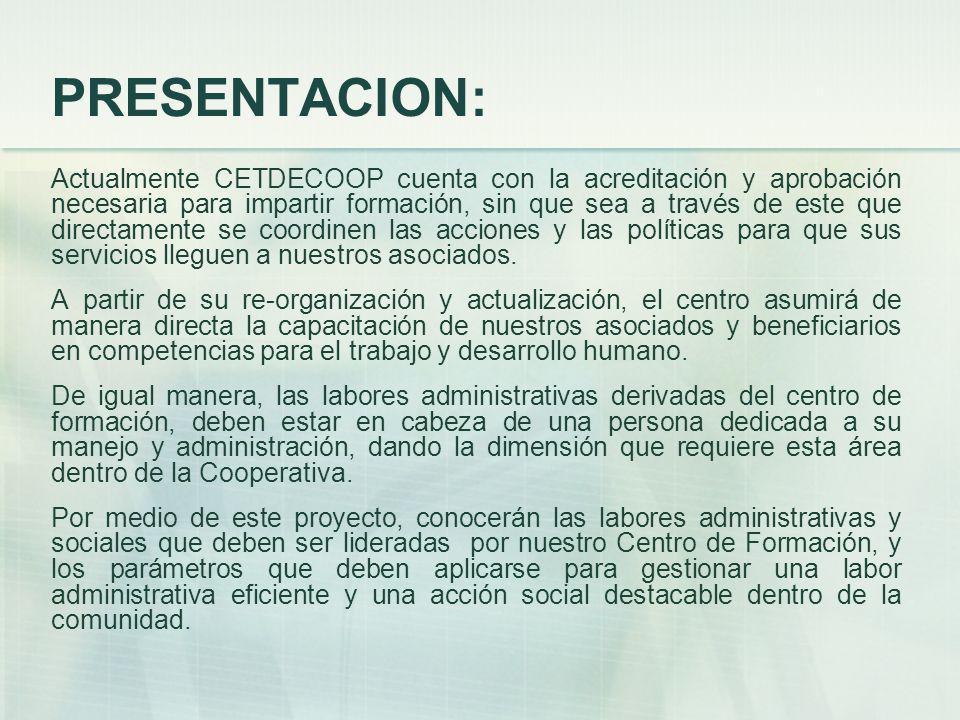 PRESENTACION: