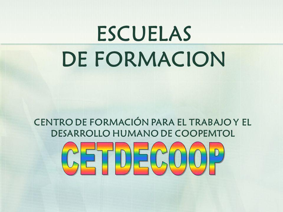 CETDECOOP ESCUELAS DE FORMACION